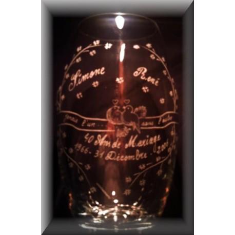 Vase Gravé Anniversaire de Mariage